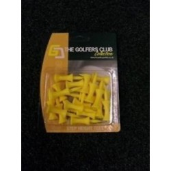 The Golfers Club Graduated Castle Golf Tees Yellow - Step 24mm (20 Tees)