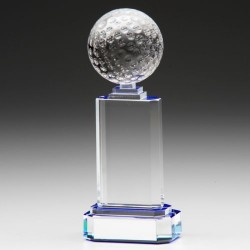 Alpha Crystal Golf Trophy Award - 150mm